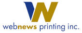 Webnews Printing Inc. Sticky Logo